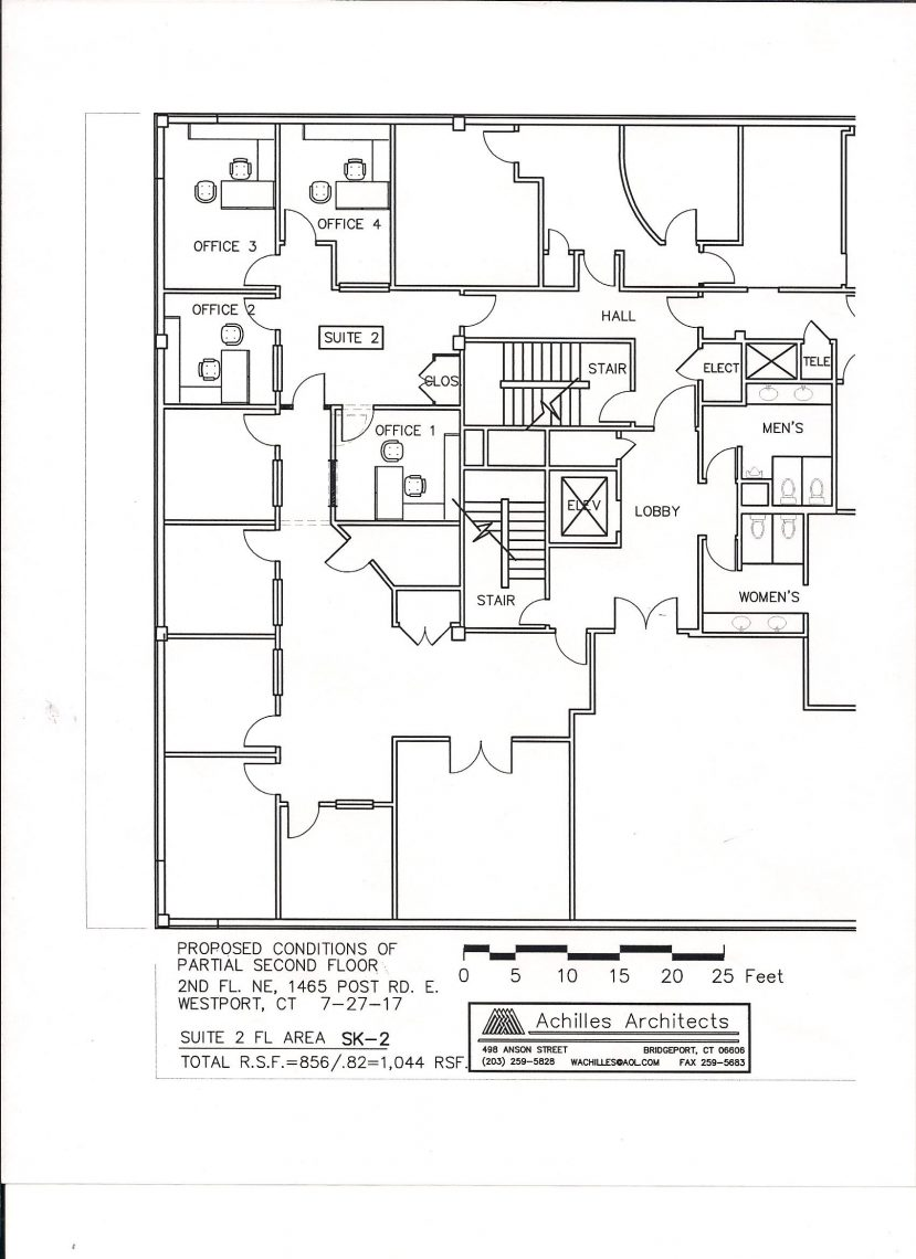 office space floor plan. Four Office Suite With Waiting Room. 2 On Floor Plan. Elevator Building. Can Also Be Rented As Singles. 1 $900/month, Space Plan